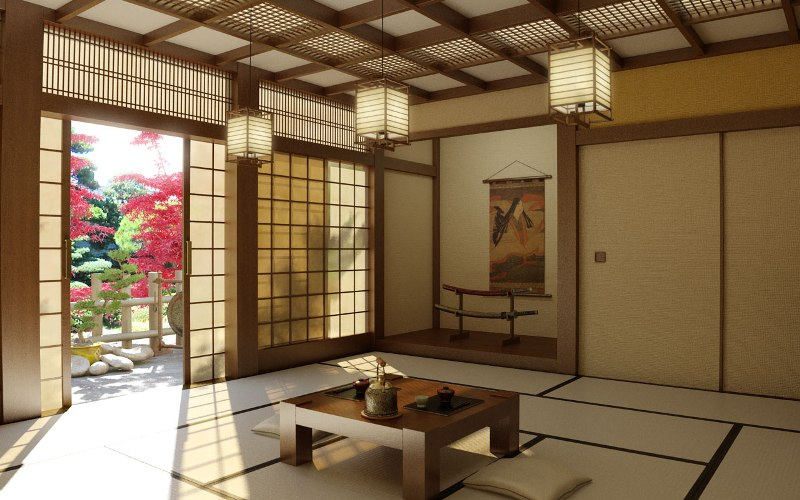Интерьер в японском стиле фото