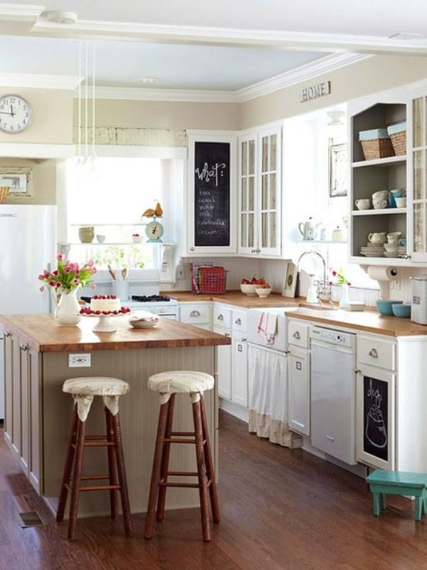Интерьер дизайн маленькой кухни