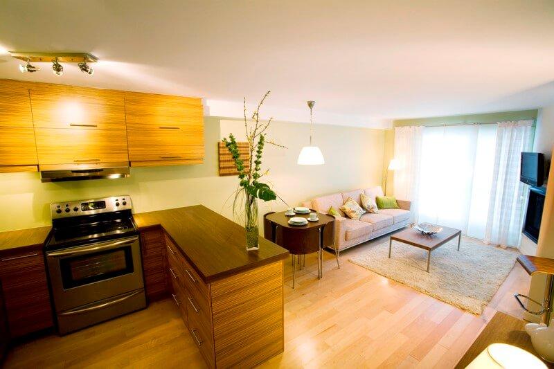 Дизайн кухня-гостиная 13 кв м