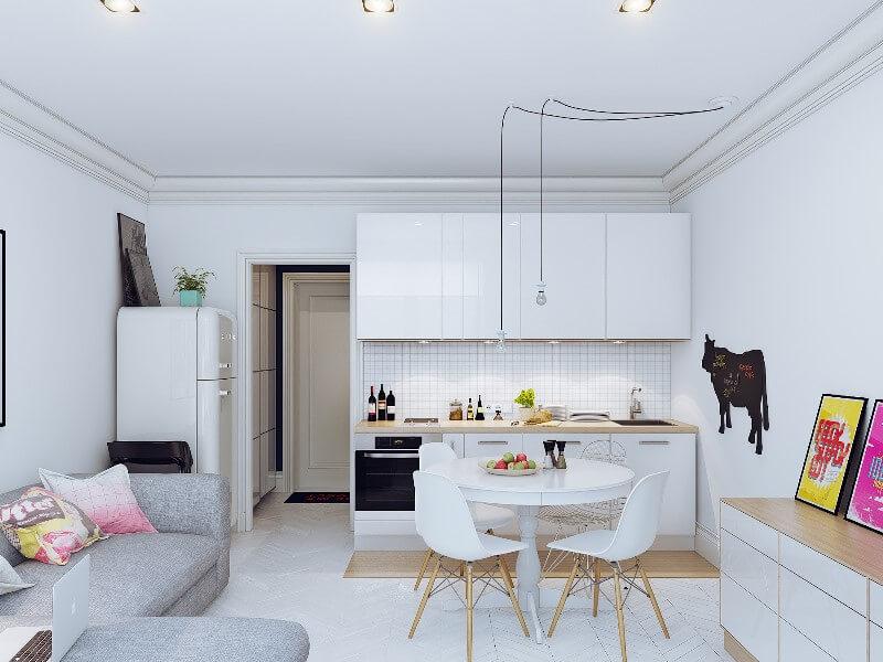 Дизайн кухни-гостиной 20 кв.м.