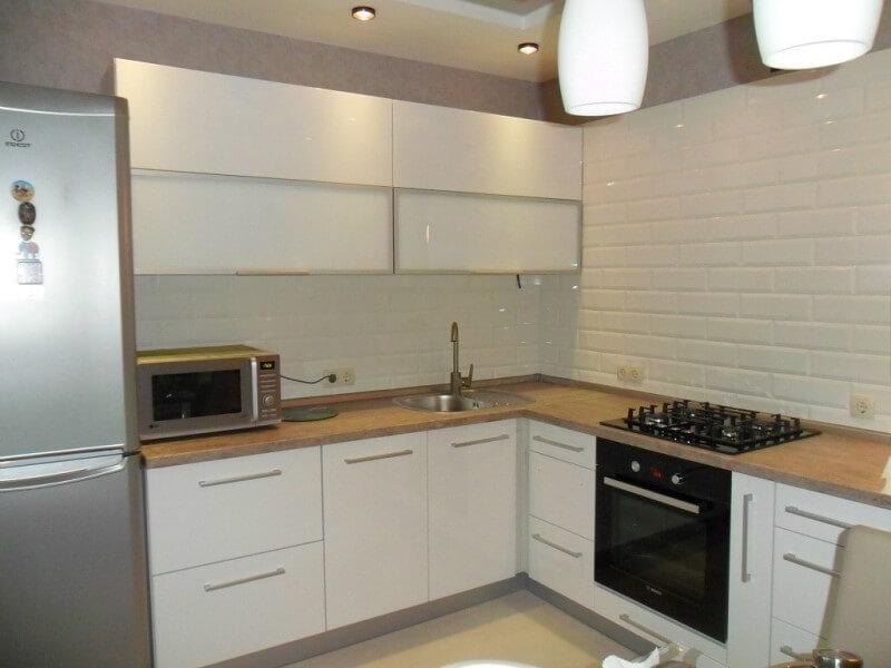 Дизайн интерьера белой кухни