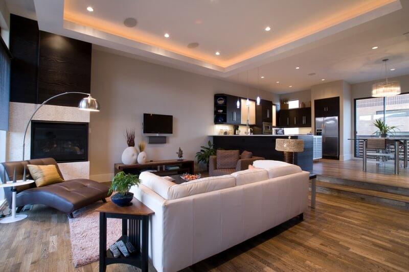 Дизайн освещения гостиной
