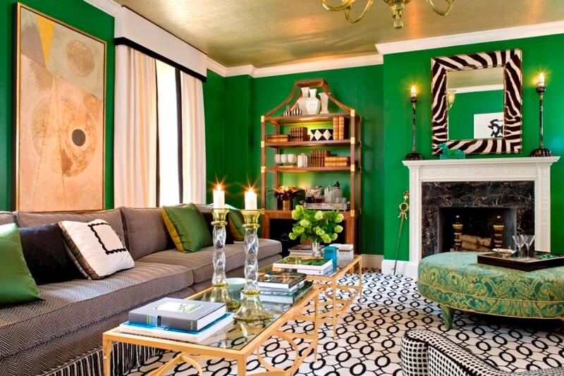 Зеленый цвет в интерьере