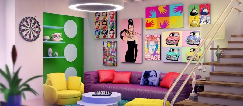Стиль поп арт в интерьере