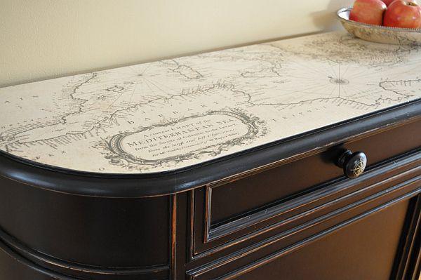 Декупаж стола в стиле прованс своими руками