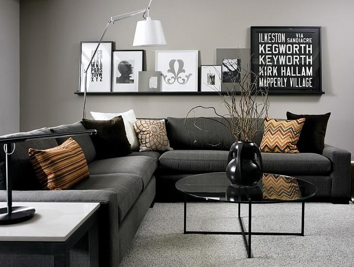 Серый и черный в интерьере фото