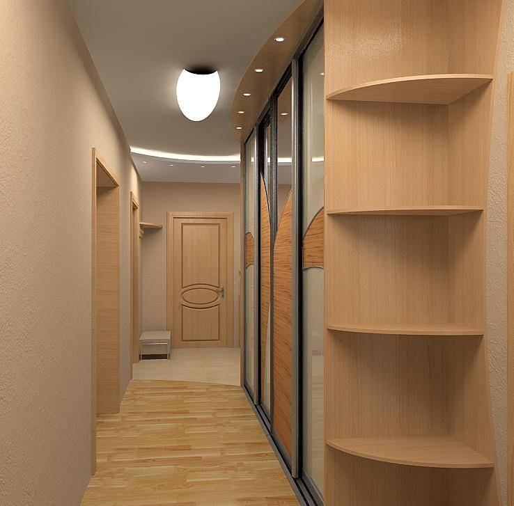 Дизайн прихожей в узкий коридор фото
