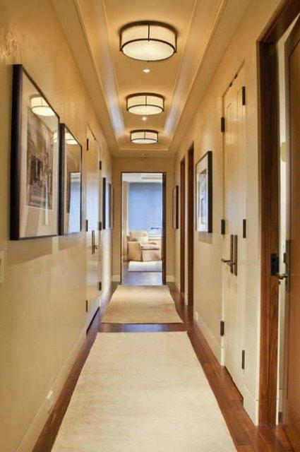 Дизайн узкого коридора, фото