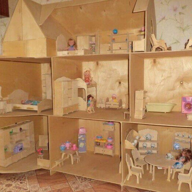 Домики мебель для кукол своими руками