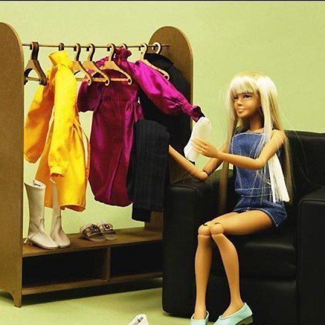 Как сделать мебель из бумаги куклам барби 455