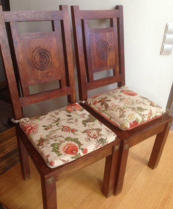 Подушечки для стульев своими руками фото 25