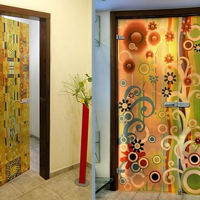 Декор межкомнатных дверей своими руками фото