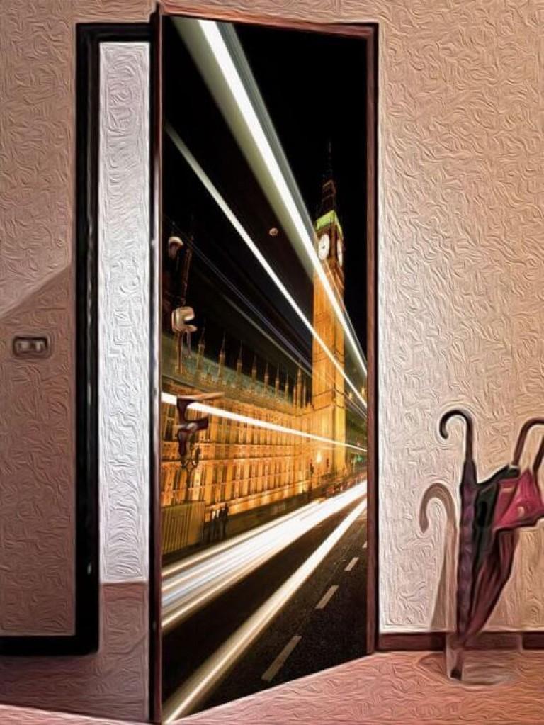 Как сделать наклейку на дверь