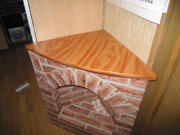 Декоративный камин своими руками из коробки