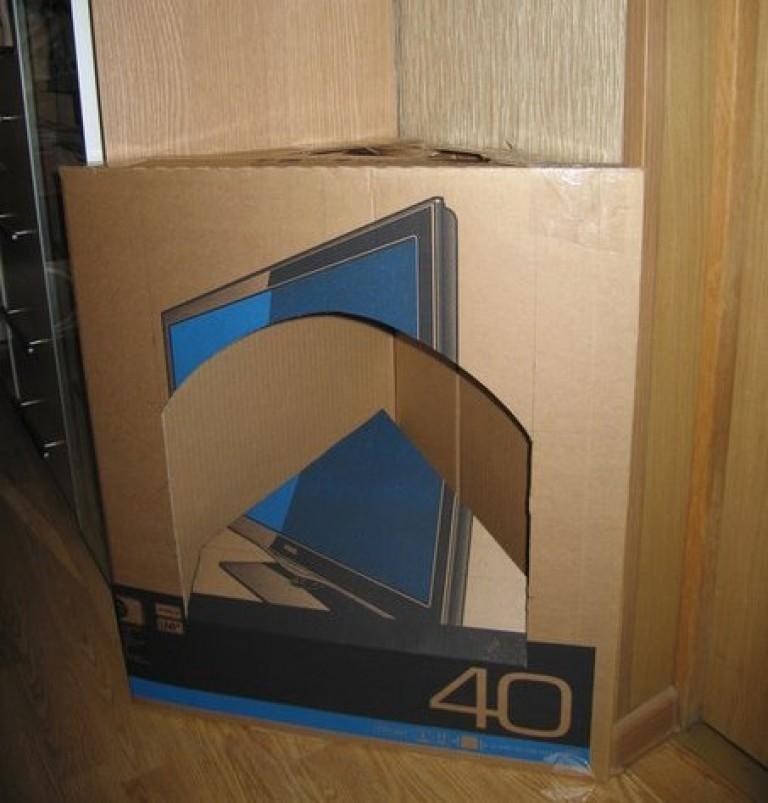 Угловой фальш камин из картона пошаговая инструкция