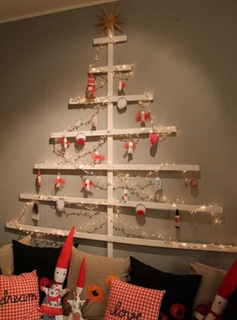 Новогодняя елка из дерева своими руками