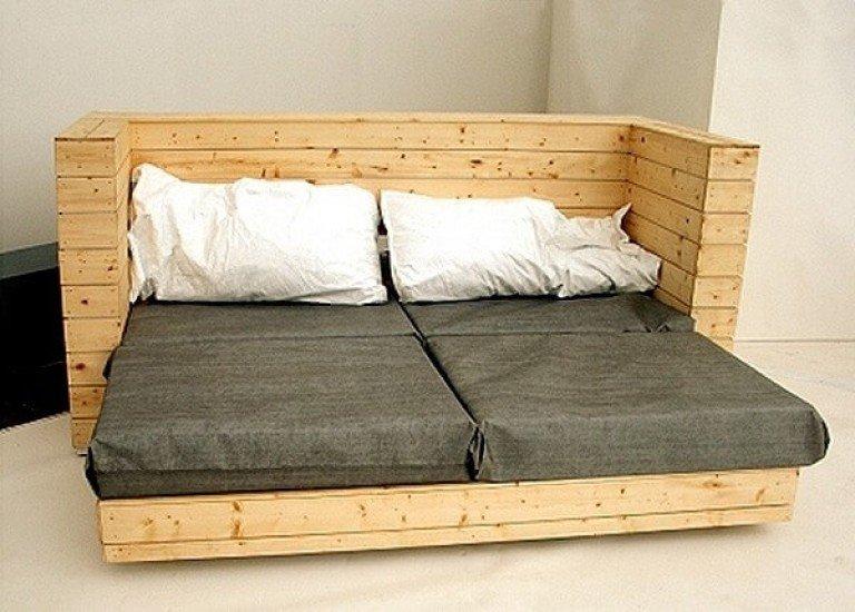 Кровать из дивана своими руками из дерева 69