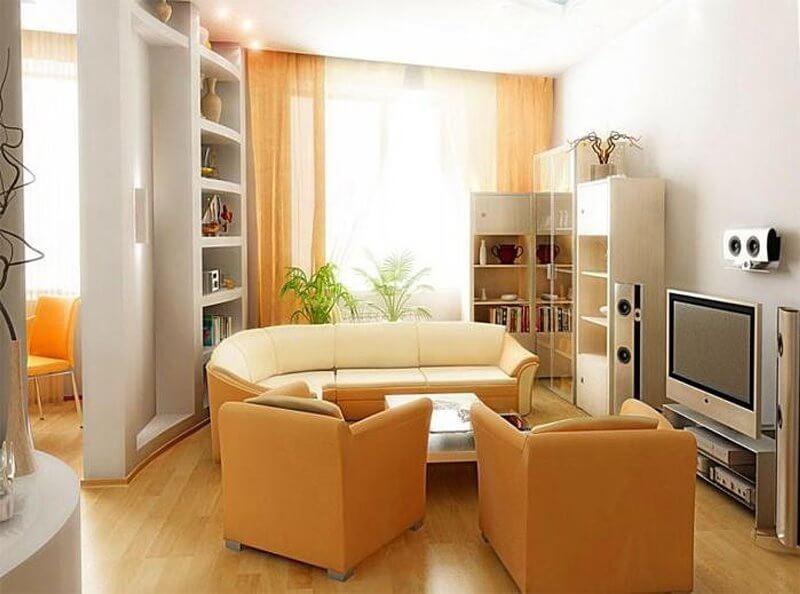 Интерьер квартиры хрущевки 2 комнаты фото
