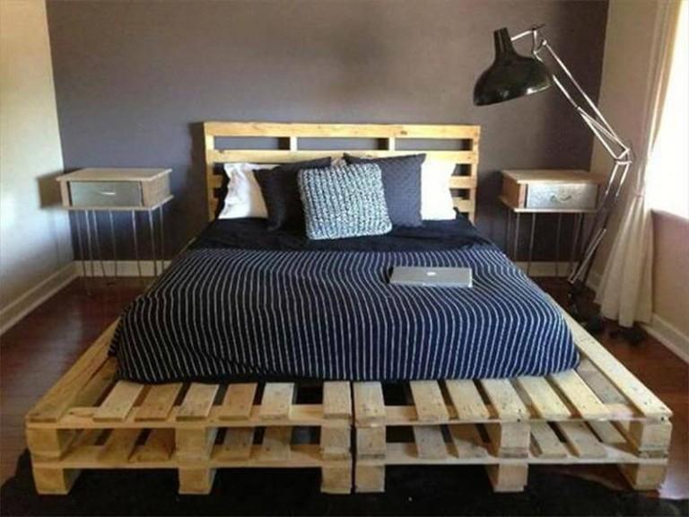 Кровать из паллета своими руками