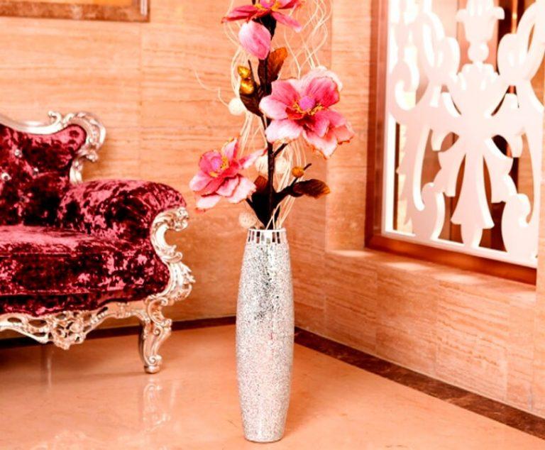 Декоративные цветы своими руками в высокую вазу 72