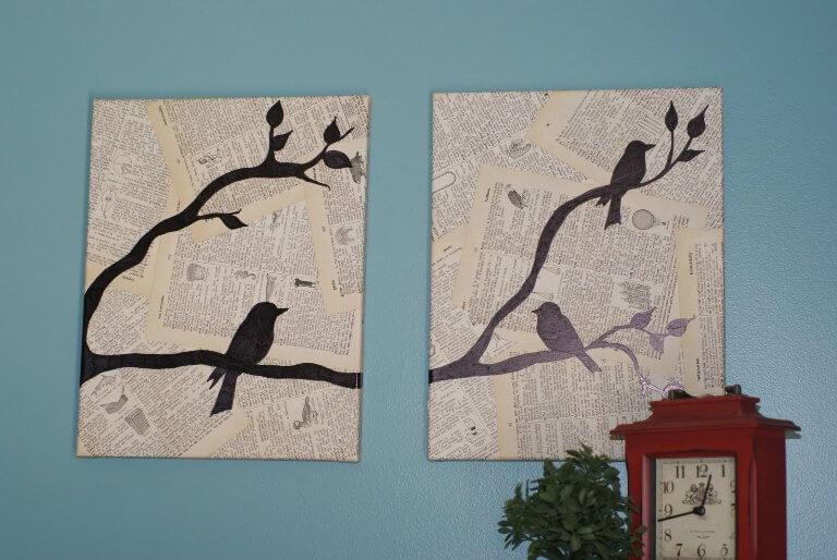 Простые картины на стену своими руками