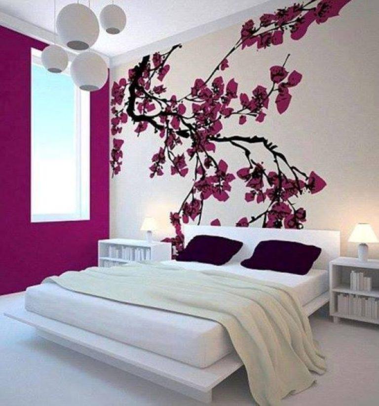 Wandfarbe lila kombinieren