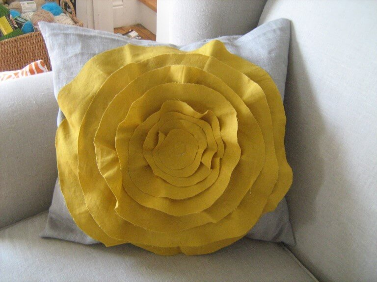 Подушки цветы своим руками 55