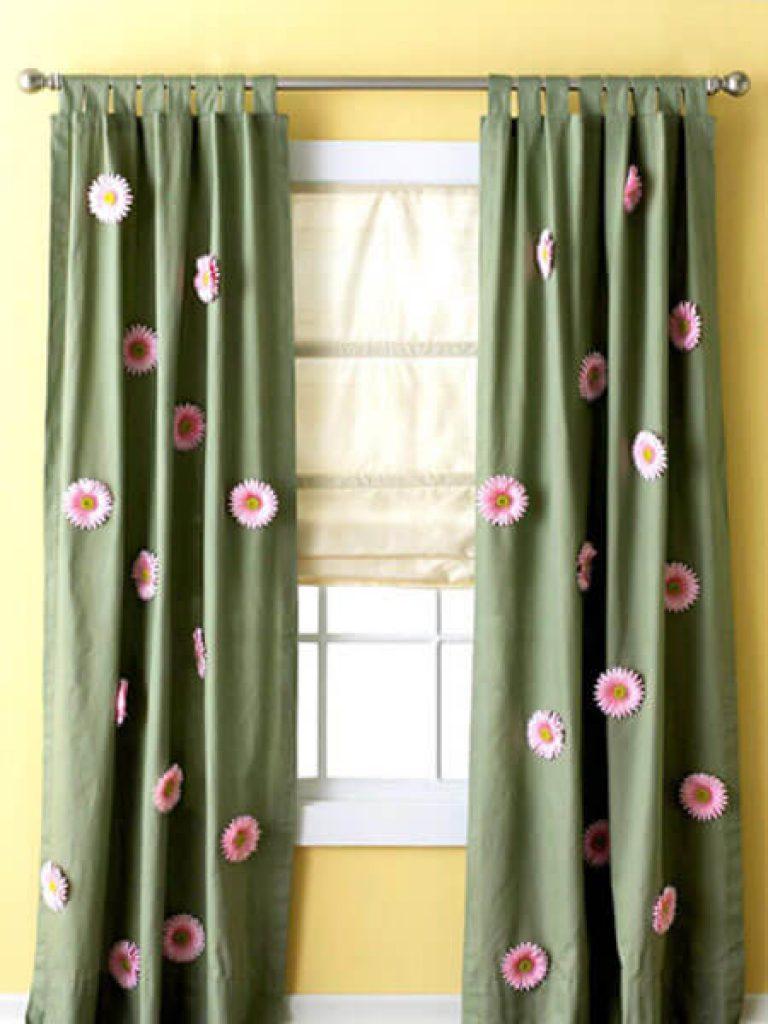 Чем как украсить шторы своими руками фото