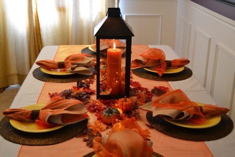 Осенний декор столовой