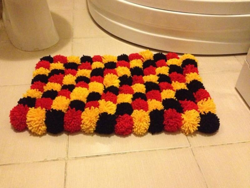 сделать квадратный коврик
