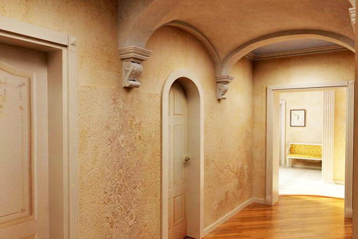 арка с декор элементами