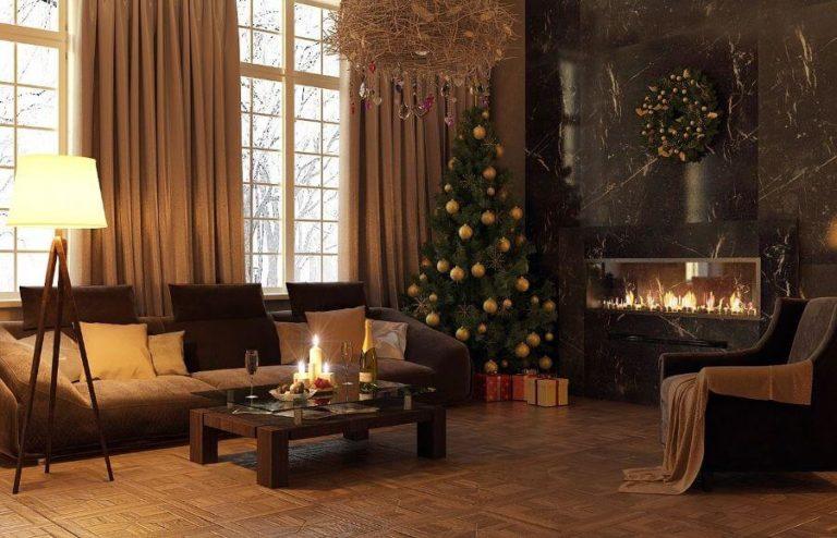 Как украсить комнату на Новый год - 50 фото лучших идей сделанных своими