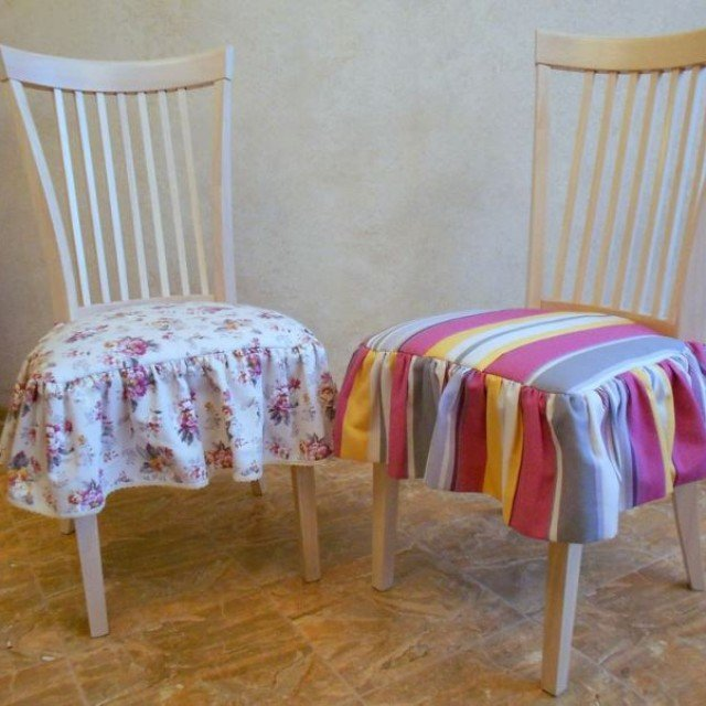 Чехлы на стулья своими руками: фото, выкройки, как. - Pinterest 56