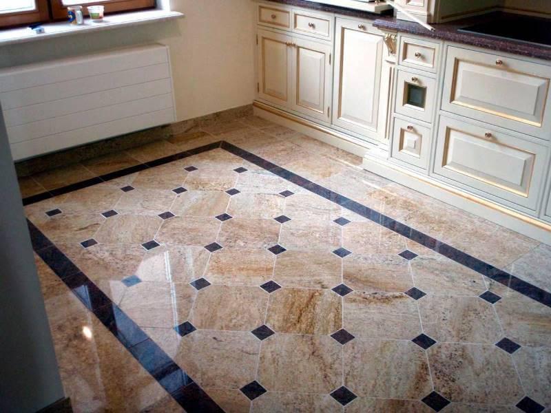 фото напольная плитка на кухне