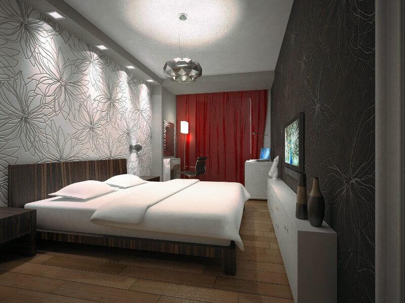 Дизайн освещения спальни