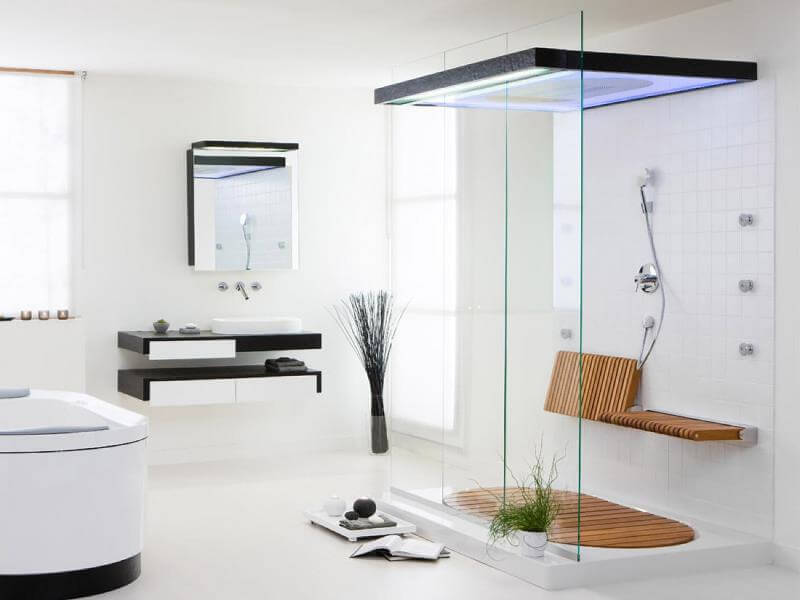 Дизайн интерьера душевой комнаты