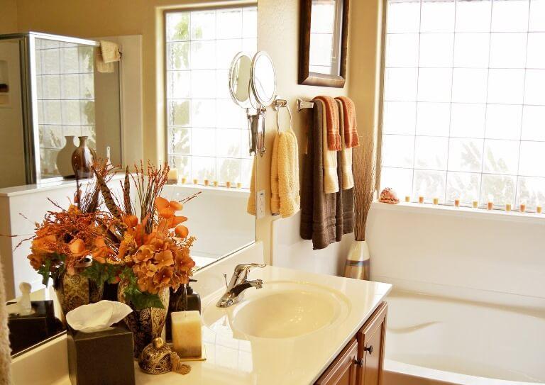 Осенний декор ванной