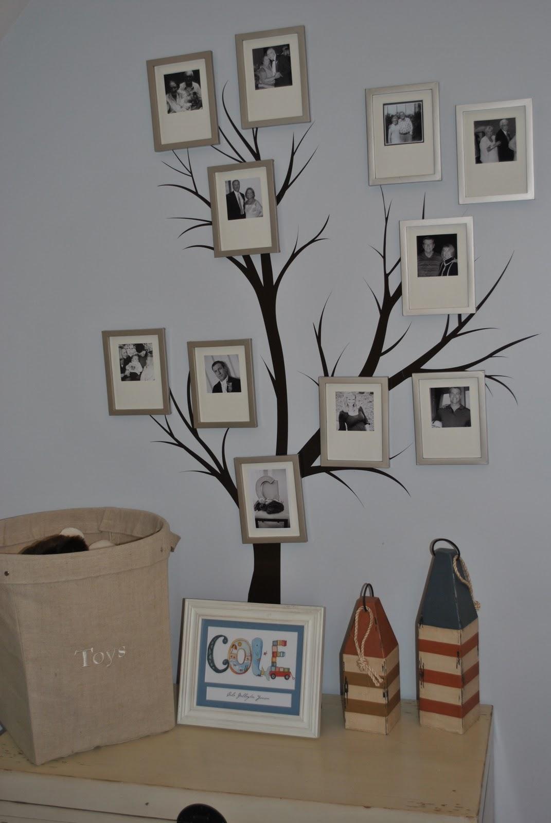 Генеалогическое древо на стене