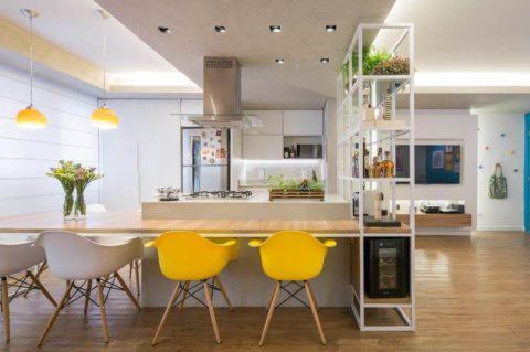 Уникальная планировка небольшой квартиры в Бразилии