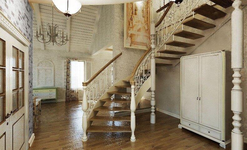 фото лестниц для загородного дома