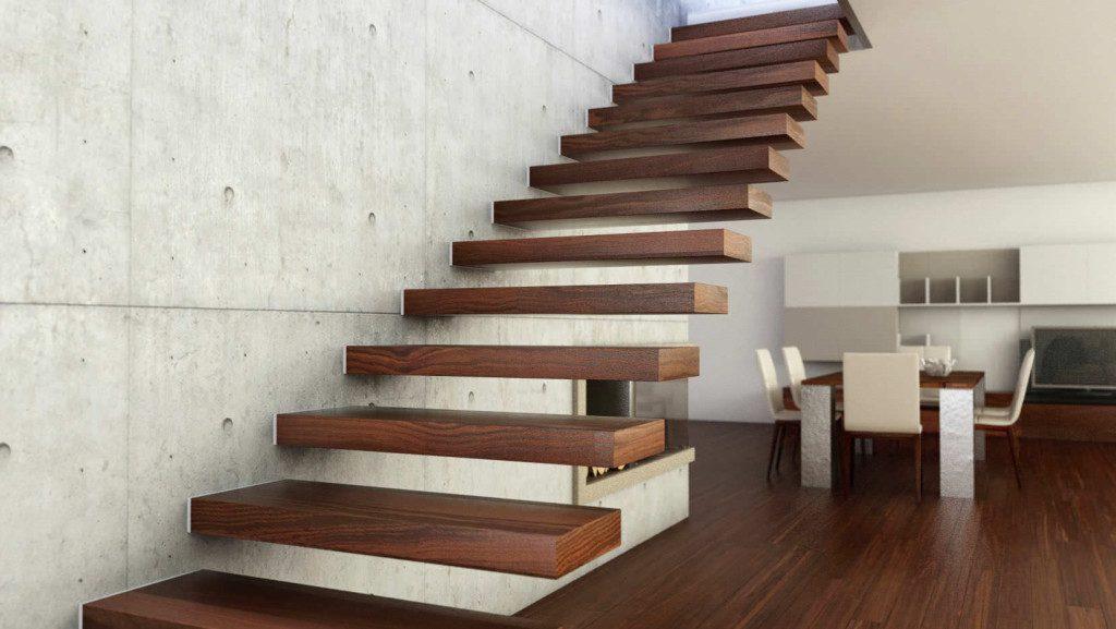 лестница на болтах в частном доме