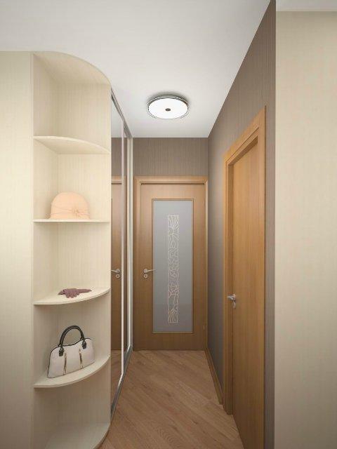 Дизайн узкого коридора прихожей в квартире фото 586