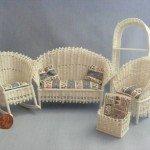 Плетеная мебель для кукол