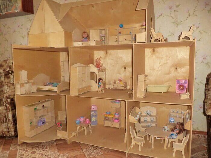 Фото как сделать кукольную мебель своими руками
