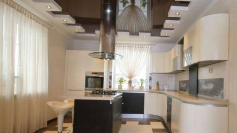 Дизайн потолка на кухне: самые поразительные варианты