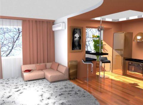 Дизайн двухкомнатной квартиры распашонки: масса возможностей, чтобы создать уютное жилье для всей семьи