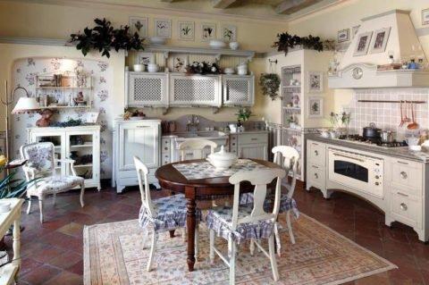 Дизайн кухни в стиле прованс: неповторимый колорит Франции
