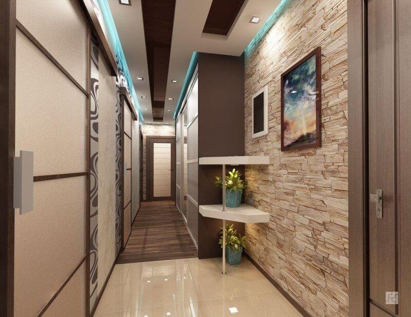 Дизайн освещения коридора