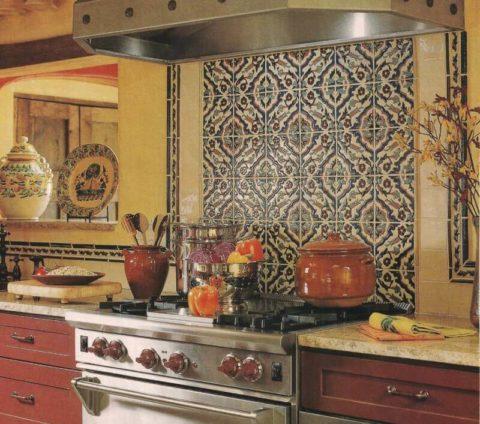 Дизайн плитки на кухне: самые удивительные идеи и способы их воплощения