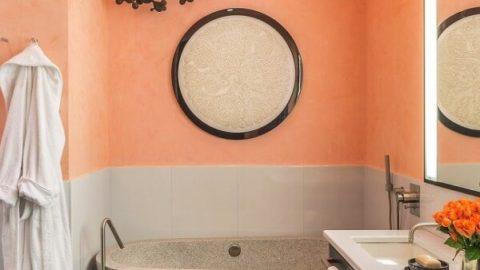 Персиковый цвет в интерьере: тепло и уют в доме